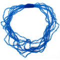 Blue Frizzy necklace
