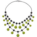 Green Oriente rubber necklace