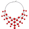 Red Rubber necklace