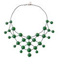 Green Rubber necklace