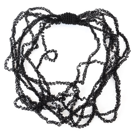Black Frizzy necklace