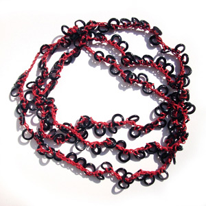 Black Minirings necklace