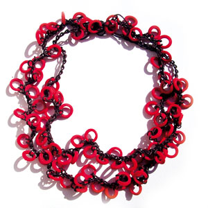 Red Minirings necklace