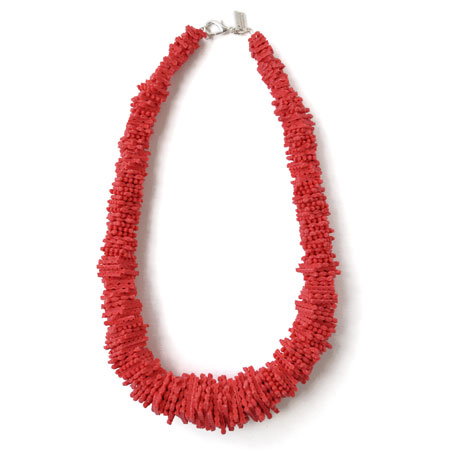 Red Sponge necklace