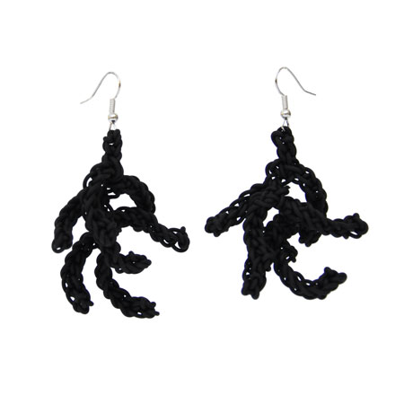 Black Coralla earrings